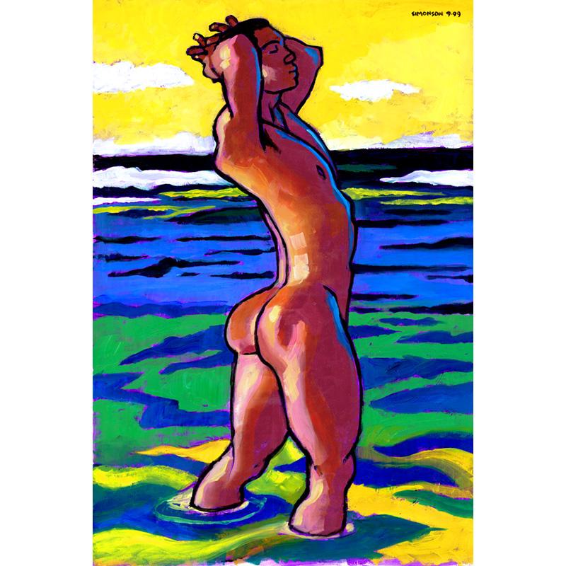 Hawaiian Woman Nude Art Prints