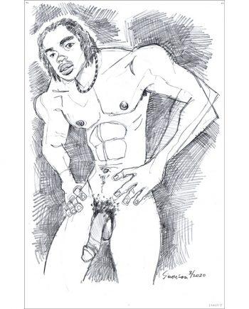 Aaron Poses Nude